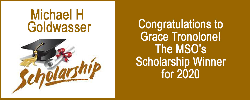 Goldwasser Scholarship Winner